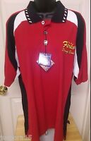 Pro Celebrity Mens Multi Color jos. A Ferka String Brand Polo Shirt Size M
