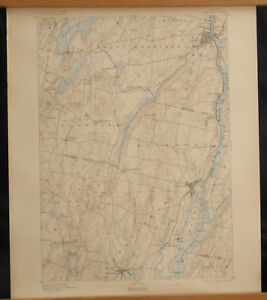 Litchfield Maine Map.Gardiner Maine Topo Map 15 Min 1900 Richmond Litchfield Bowdoin