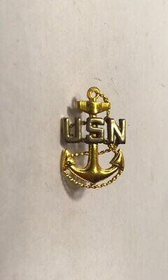 USN NAVY CHIEF PETTY OFFICER BASIC ANCHOR MINI LAPEL PIN BADGE 3//4 INCH