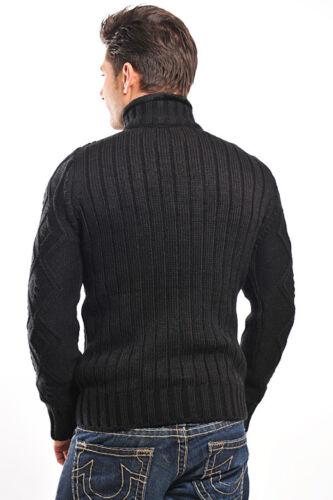 Wasabi Strickpullover Winter Herren Pullover 582 M L XL schwarz