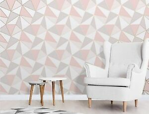 Finedecor Apex Tapete Geometrictriangle Modern Muster Rose/Rosa Gold ...