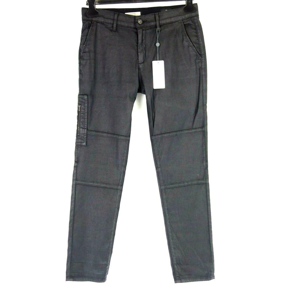 Adriano Goldschmied Ag Pantalon Femmes The Wyatt Taille W27 W28 W29 Lederlook Np