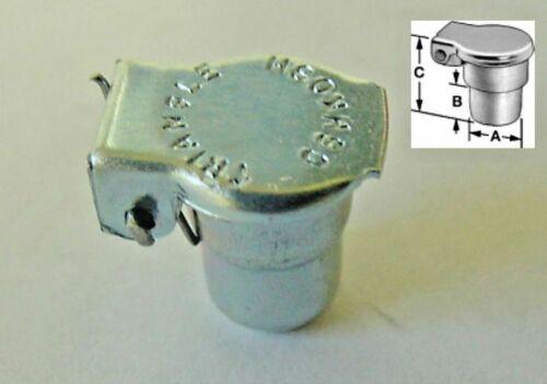 "1//4/"" Ford GM Distributor Generator Oil Oiler Flip Cap Lid NOS Oil Hole Cover .25"