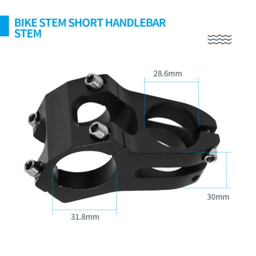 31.8x45mm MTB Cycling Mountain Bike Stem Short Handlebar Stem for Most Bicycle
