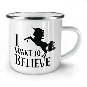 Unicorn Slogan NEW Enamel Tea Mug 10 oz   Wellcoda