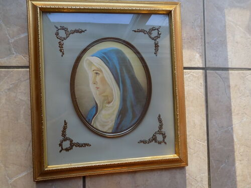 Vintage Turner Wall Accessory, Blessed Virgin Mary Madonna 3D framed ...