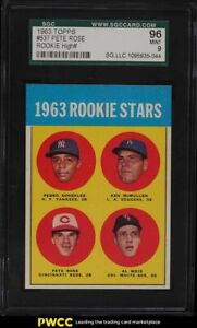 1963 Topps Pete Rose ROOKIE RC #537 SGC 9 MINT