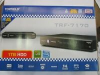Topfield Pvr Dvr Trf-7170 Brand In Box 1 Tb Hdd With 2 Free Hdmi Cables