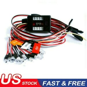 Brake & Headlight & Signal LED Light Kit Fit 1:10/1:8 RC Car truck 2.4ghz PPM FM