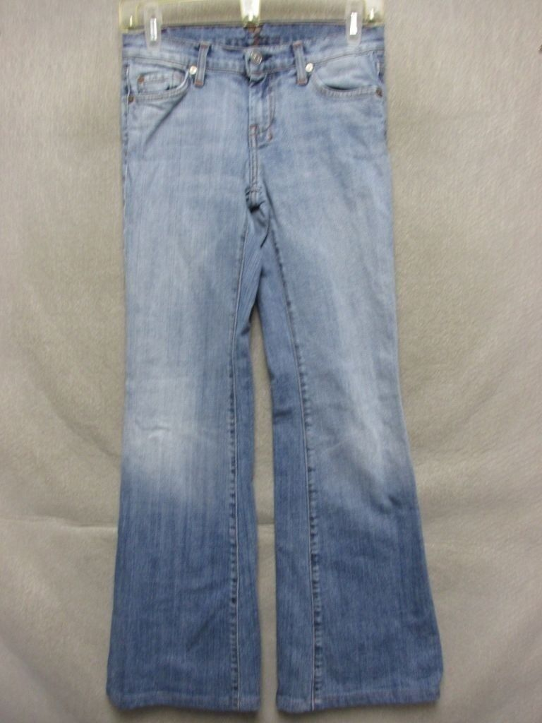D7564 7 For All Mankind Stretch USA Made High Grade Boot Cut Jeans Women's 28x29