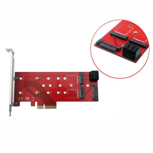 High Speed 3 Port M.2 to SATA3 PCI-E Express 4X Adapter Card Converter