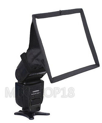 15cm*17cm Portable Flash Diffuser Mini Flash Softbox Kit For DSLR Speedlite