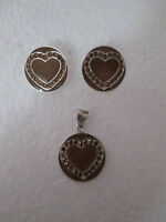 Silver Earing & Pendant Set Fashion Jewelry 925 Sterling Silver Mexican Taxco