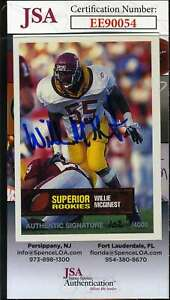Willie-Mcginest-1994-Superior-Rookie-Jsa-Coa-Hand-Signed-Authentic-Autograph