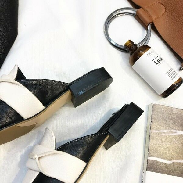 Sandalei ciabatte primavera pelle bianco nero basse moda simil pelle primavera eleganti 9744 a2cdb9