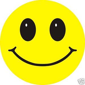 Smiley Face Sticker X 3 6cm Retro Acid House Self Adhesive Decal Ebay