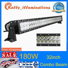 32inch 180W CREE LED Work Light Bar Offroad S&F Combo Truck 4WD Boat SUV 12V 24V