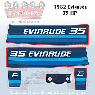 1984 Evinrude 30 HP Outboard Reproduction 8 Piece Marine Vinyl Decals 30RCR