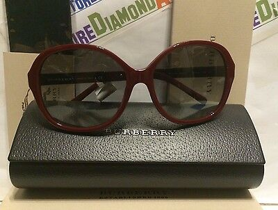 2570299237b4 Burberry Sunglasses Bordeaux   signature pattern BE4178 3403 11 58-16 135  2N NEW