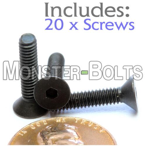 "Qty 20 #5-40 x 5//8/"" Flat Head Socket Caps Screws SAE Alloy Steel Black Oxide"