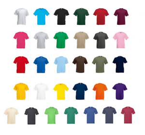 3-Or-5-Pack-Fruit-of-the-Loom-100-Cotton-Value-Weight-T-Shirt-Short-Sleeves-Tee