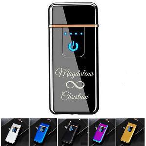 Sensor Touchscreen Feuerzeug Glühspirale mit Gravur nach Wunsch + USB Kabel
