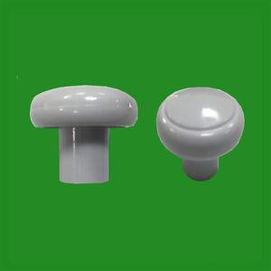 2x 32mm Plastique Blanc Armoire Placard Tiroir Meuble Poignee De