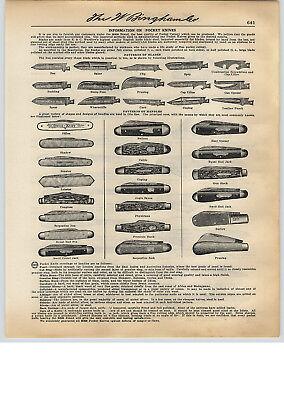 1931 Paper Ad 10 Pg Bbb Bingham Best B Rand Pocket Knife