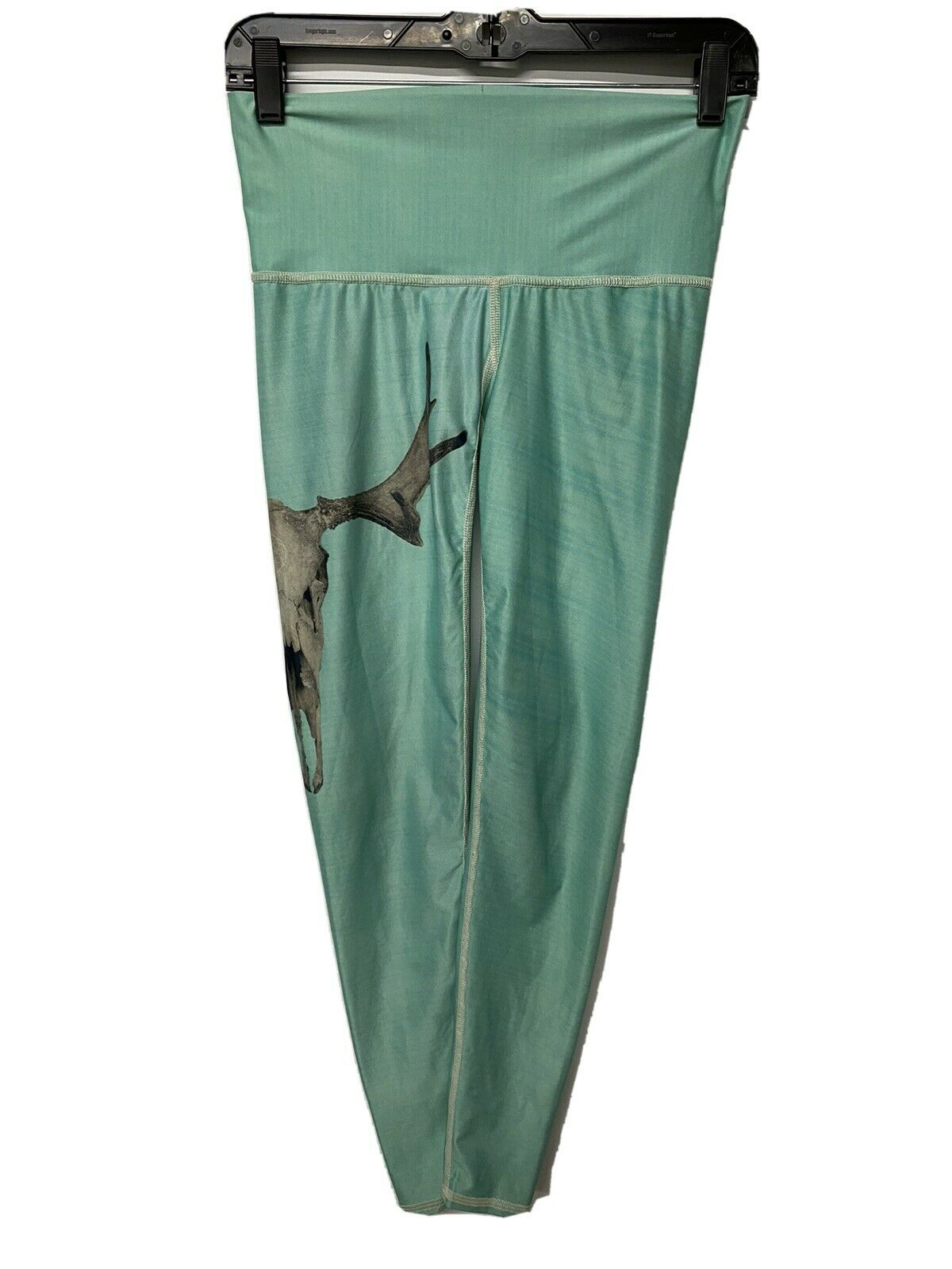 Teeki Deer Medicine Hot Pants Womens Small Leggings Skull Athletic Wear Green