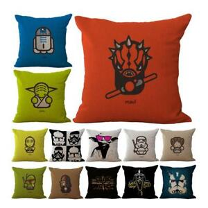 Star Wars Home Decor Cotton Linen Throw Pillow Case Cushion Cover