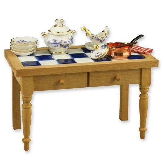 Mesa Cocina  precioso 1 12th Escala Miniatura por Reutter Porzellan