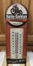 Harley-Davidson Thermometer Motorcycles Motor Metal Bike Helmet Vintage Style