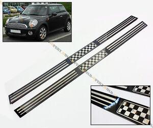 Fits 07 2014 R56 R57 Mini Cooper S Checkered Flag Chrome Entry Door