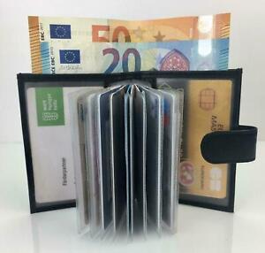 Kreditkartenetui-Kartenetui-Leder-Schwarz-Etui-Geldboerse-Echtleder-GESCHENK