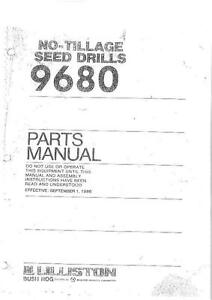 lilliston no till grain drill model 9680 parts manual ebay rh ebay ie
