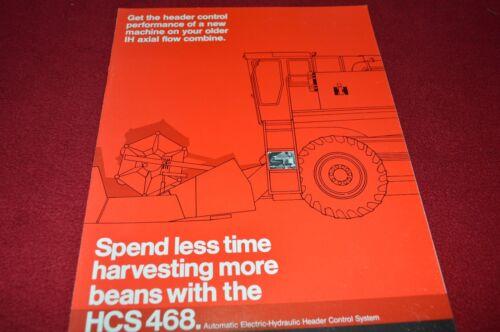 Case International HCS 468 Header Control for Combines Dealer/'s Brochure  LCOH