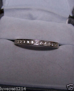 Ross simons 925 sterling silver accent wedding band ring for Ross simons jewelry store