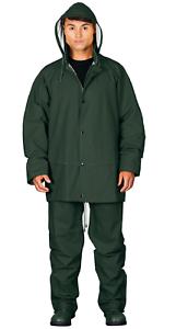 6XL Regenset Jacke PU Regenanzug Regenbekleidung grün M Hose weich /& flexibel