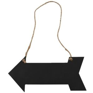 arrow-hanging-black-chalkboard-MESSAGE-FUN-PLAQUE-KITCHEN-GIFT-HOME-NOTE-MEMO-F1