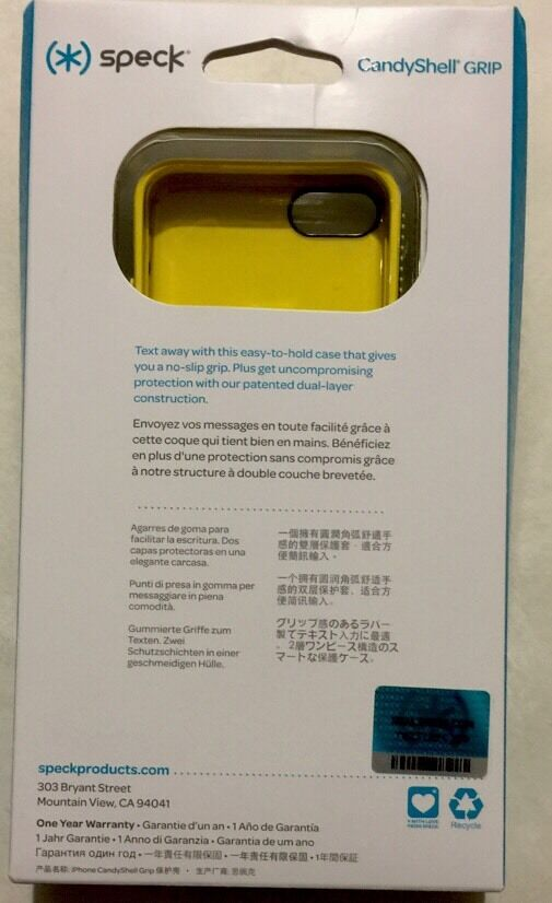6f7ae22176b Speck CandyShell Grip Case -Cadet Blue/Goldfinch Yellow for iPhone 5c  SPK-A2246 | eBay