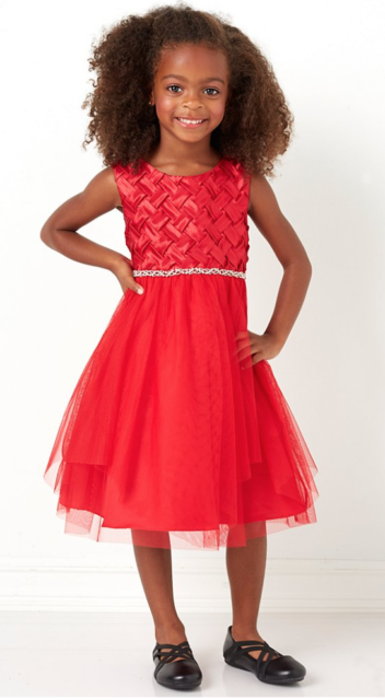 4b9396a4c3f6 NWT Chantilly Place little Girls Red Basket Weave Holiday DRESS Valentines  24 Mo