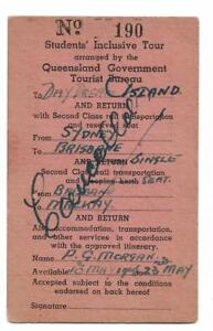 1946-Students-Inclusive-Tour-Sydney-Brisbane-Daydream-Island-Cancelled-rare
