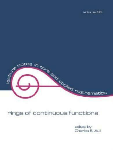 Rings Of Continuous Functions