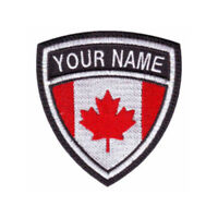 Canada Custom Crest Flag Name Embroidered Patch