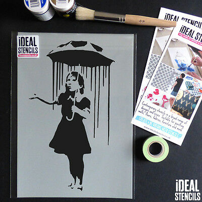 Ideal Stencils Banksy Balloon Girl stencil art craft wall home decor painting