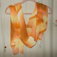 Butterscotch, Orange, Yellow, & Caramel Wave & Floral Design, Oblong Scarf