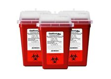 Oakridge Products 1 Quart Size Pack Of 3 Sharps Disposal Container