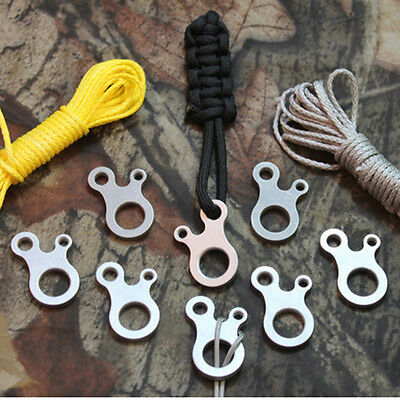 3 Hole EDC Survival Buckle Multi-purpose CNC Stainless Outdoor Knotting Cool A2