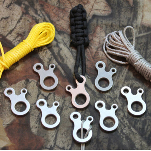 Hot Sale 3 Hole EDC Survival Buckle Multi-purpose CNC Stainless Outdoor Knotting