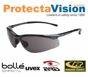 2124a5eb6d5 Bolle Smoke Lens Cycling Safety Sunglasses 99.99% UV Protection ...